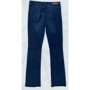 Express Jeans - Express Barely Boot Mid Rise Jeans Dark Wash 6